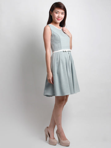Aveline Ribbon Midi Dress Jade