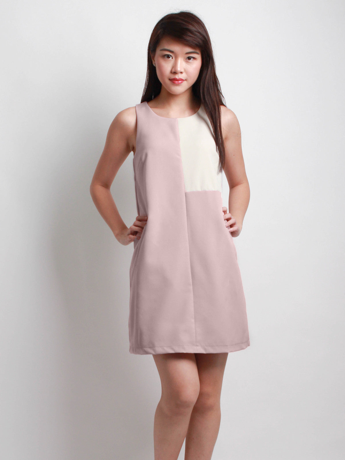 Cassandra Dual Tone Work Dress Pink