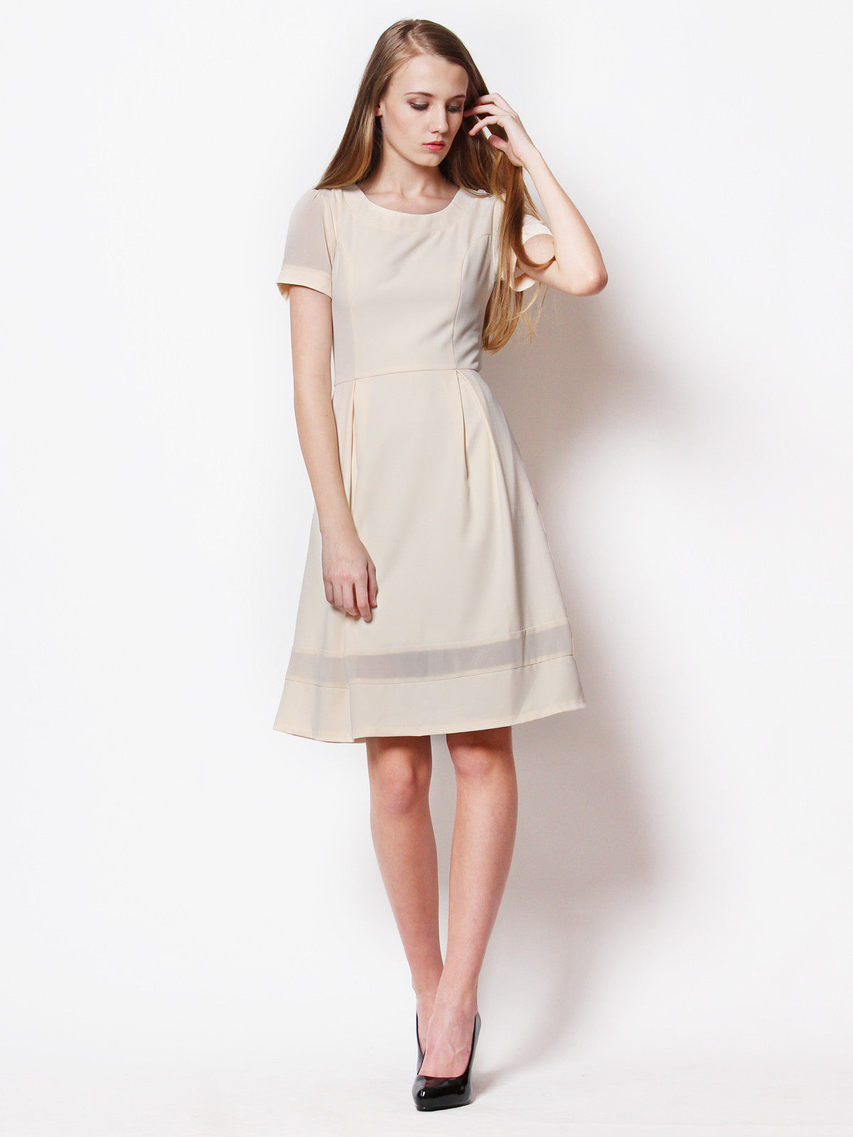 Merissa Midi Dress Vanilla