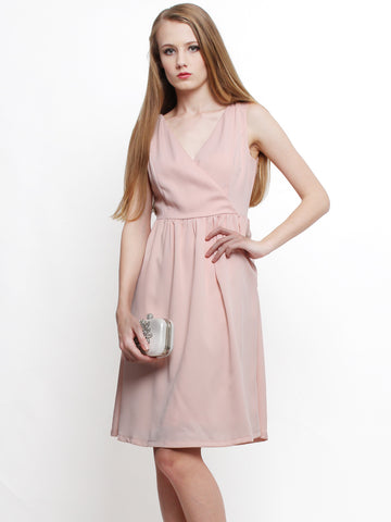 Delora Occasion Midi Dress Blush