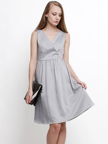Delora Occasion Midi Dress Grey