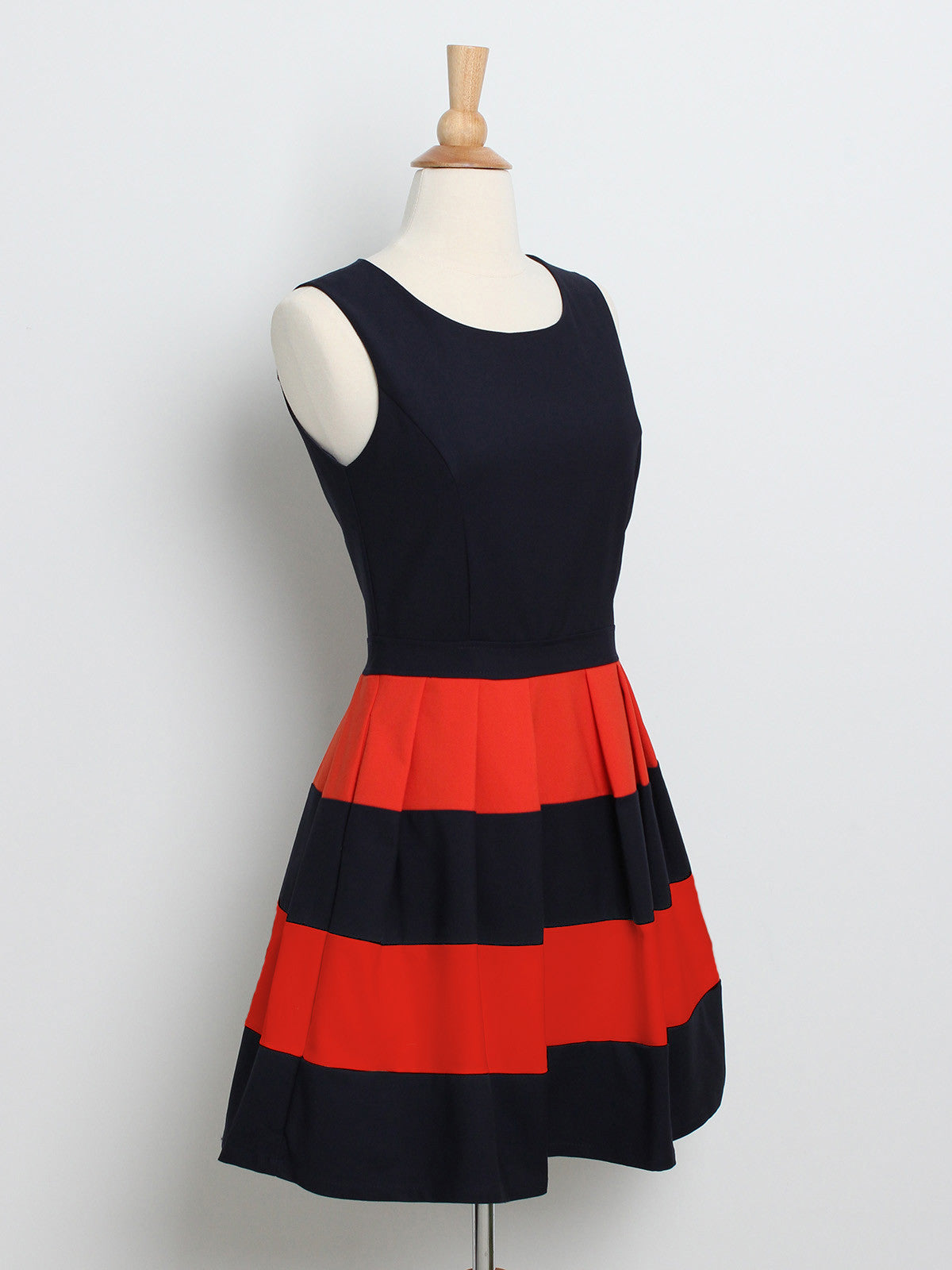 Candy Stripes Skater Dress Navy *Backorder*