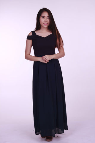 Kaia Drop Shoulder Maxi Dress