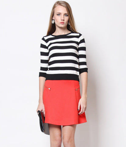 Maddie City Skirt Orange