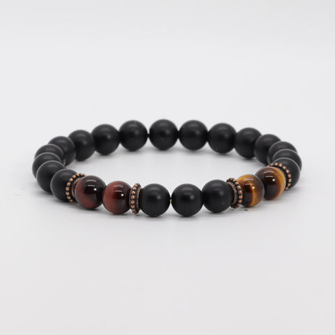 Red & Yellow Tiger Eye Bracelet