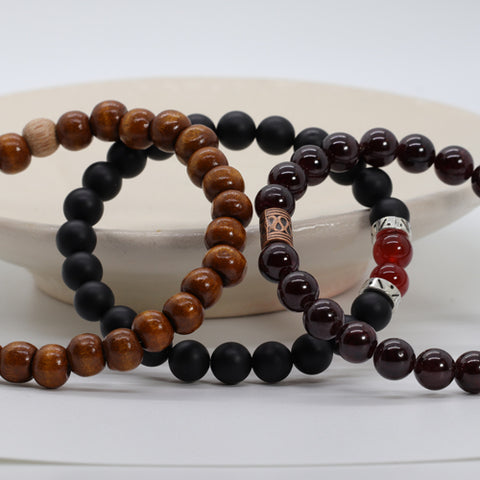 Stacked Stone Beaded Bracelet