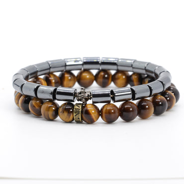 Stacked Tiger Eye Bracelet