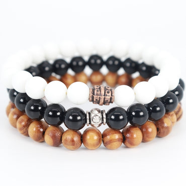 Stacked Black & White Bracelet
