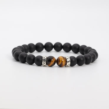 Black onyx & Tiger Eye Bracelet