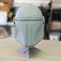 Mando helmet unfinished resin cast and shoulder armor