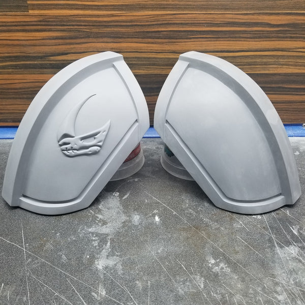 Mando shoulder armor unfinished resin casts