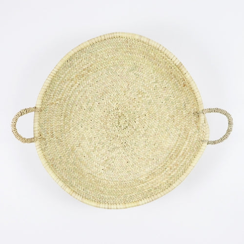 Moroccan Straw Woven Plate