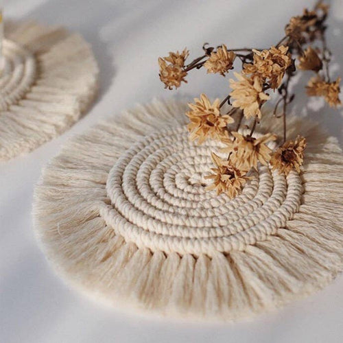 Macrame Coaster Set
