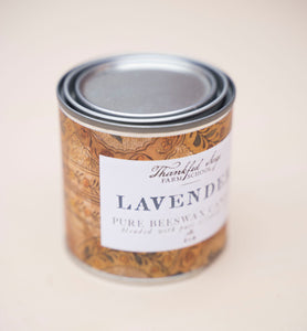 Lavender Pure Beeswax Candle