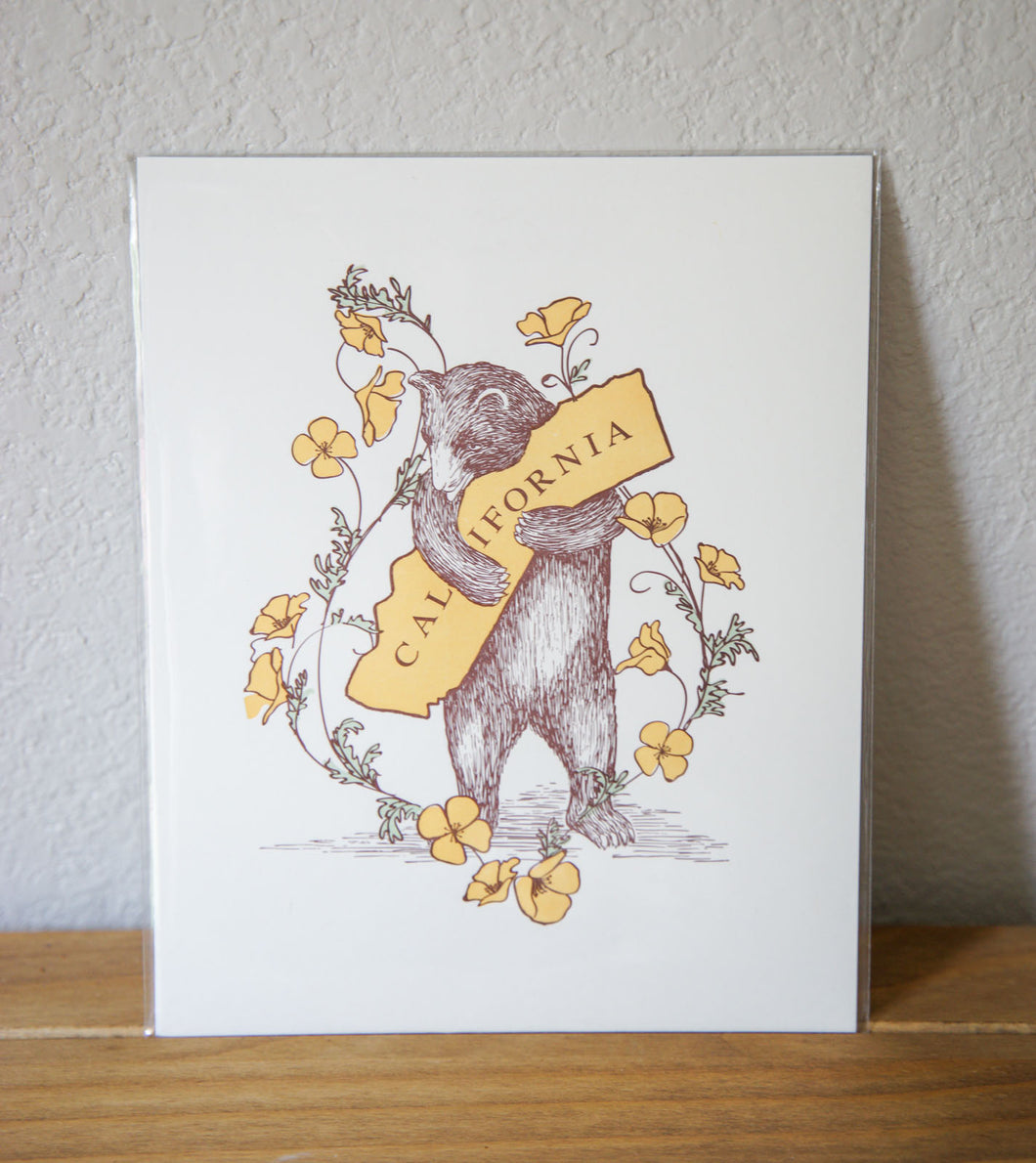 California Poppy Bear Print