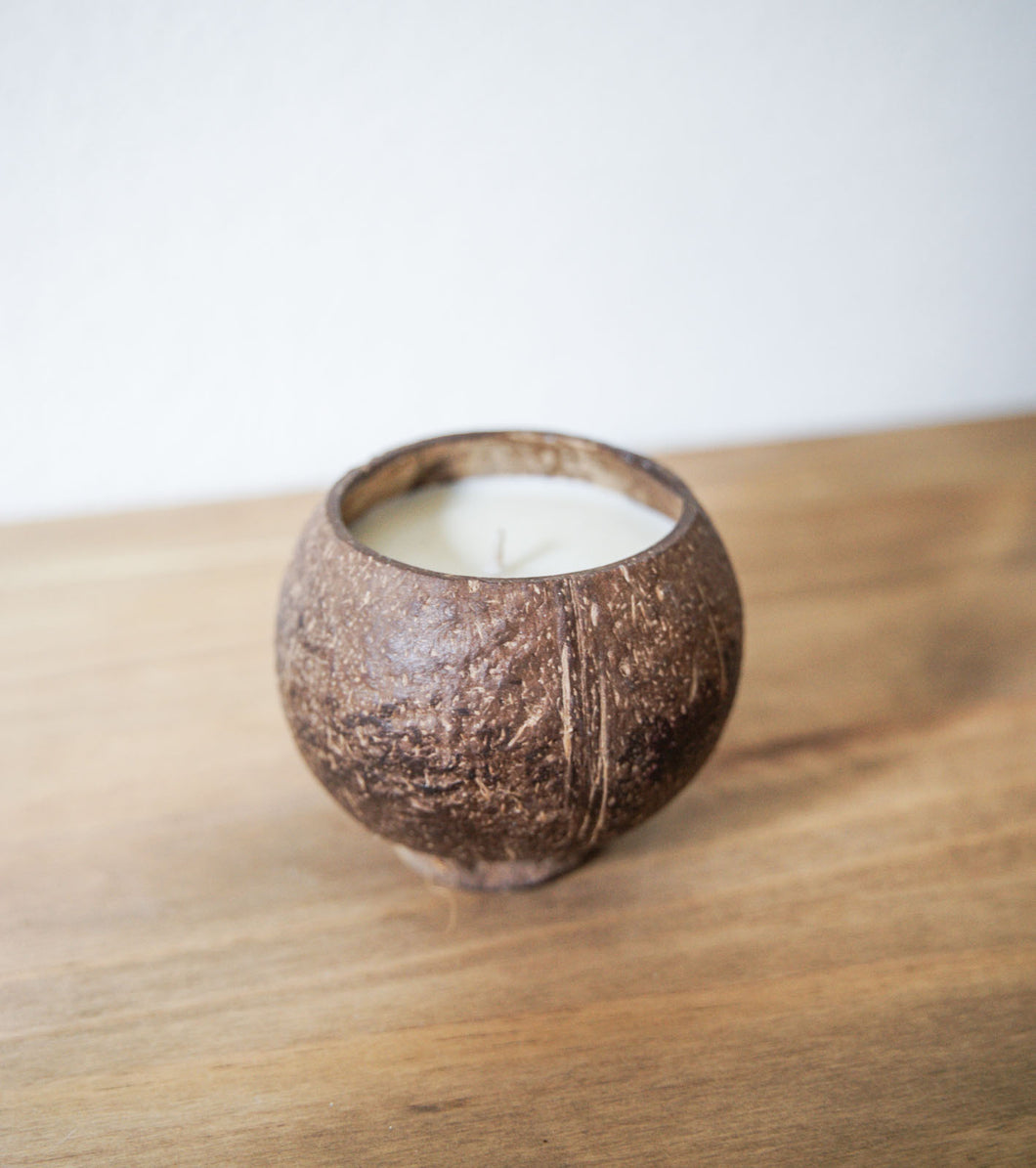 Coconut Shell Candle - B