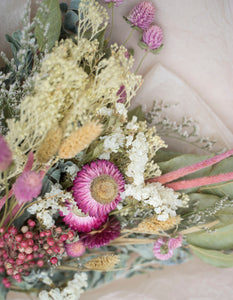 Dried Bouquet - Dusty Pink