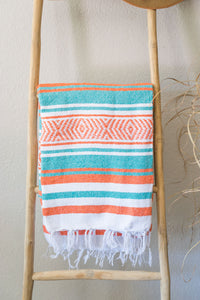 Falsa Blanket - Teal + Orange