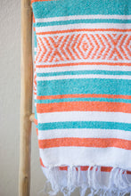 Load image into Gallery viewer, Falsa Blanket - Teal + Orange