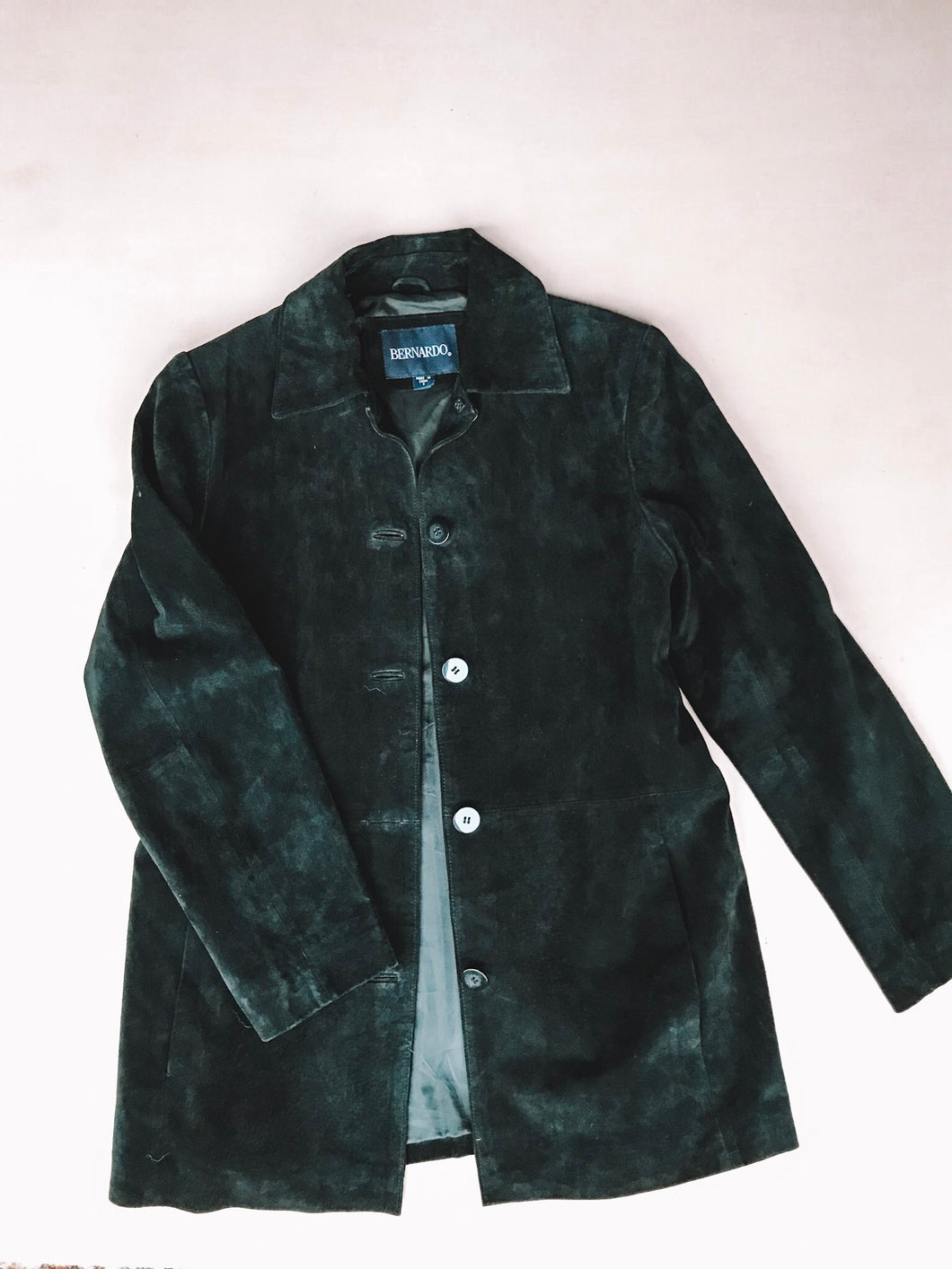 Genuine Suede Jacket - Black
