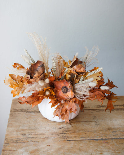Fall Pumpkin Centerpiece (Dried)