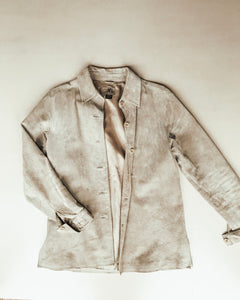 Genuine Suede Jacket - Beige