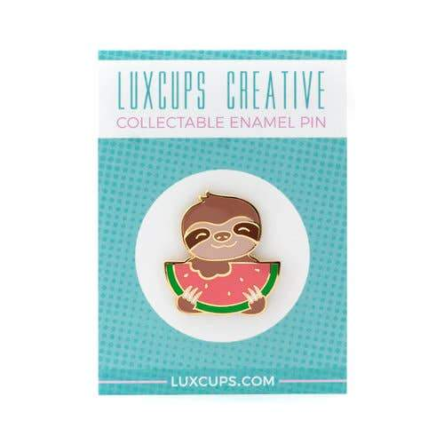 LUXCUPS CREATIVE - Slothermelon Pin