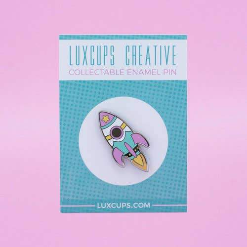 LUXCUPS CREATIVE - Rocket Pin - Pastel