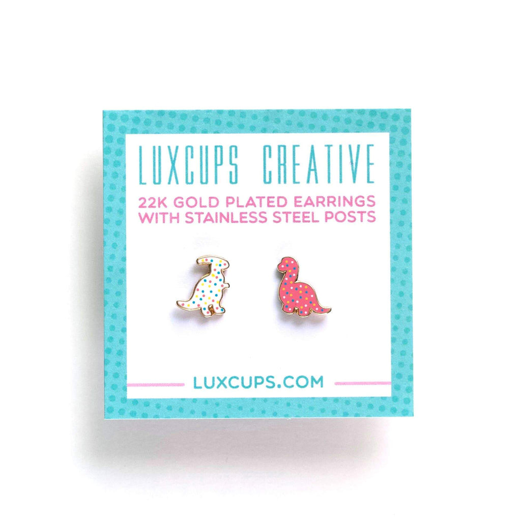 LUXCUPS CREATIVE - Dino Cookie Earrings