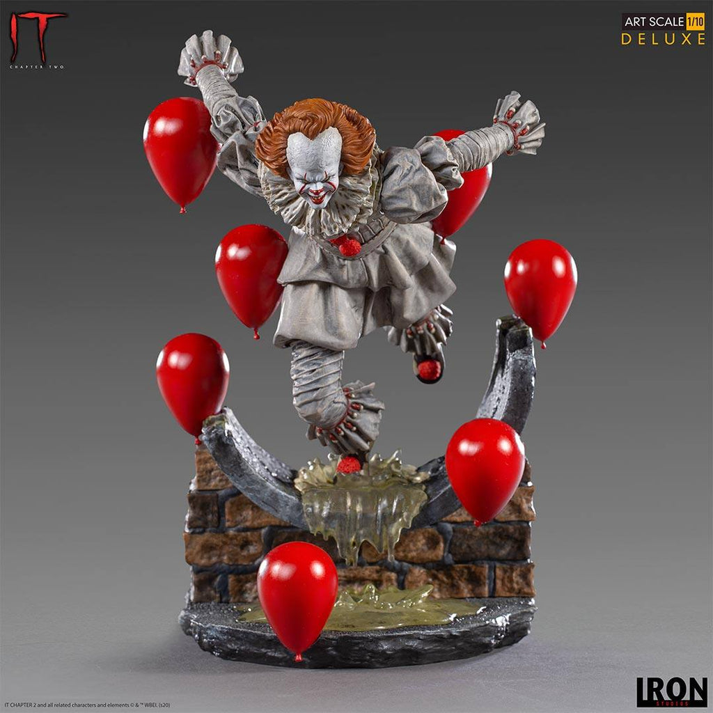 PREORDER - IRON STUDIOS - Pennywise Deluxe Art Scale 1/10 - IT Chapter Two