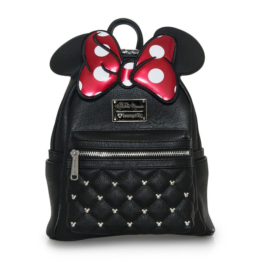 LOUNGEFLY Minnie Bow Mini Faux Leather Backpack