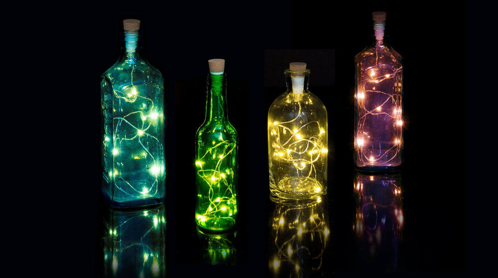 SUCK UK Multicolor String Bottle Light