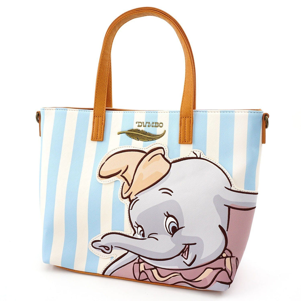 LOUNGEFLY Disney Dumbo Striped Tote Bag