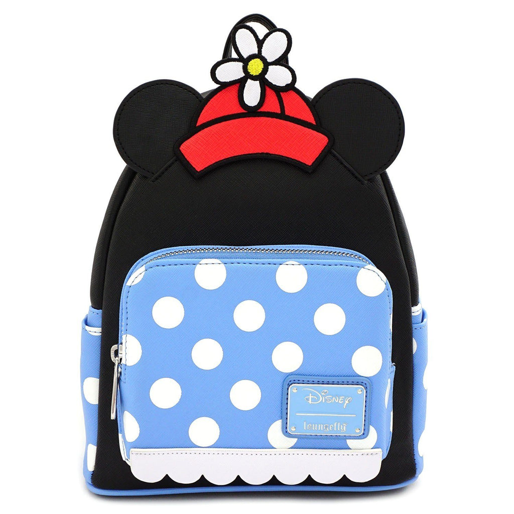 LOUNGEFLY x Positively Minnie Polka Dot Mini Backpack