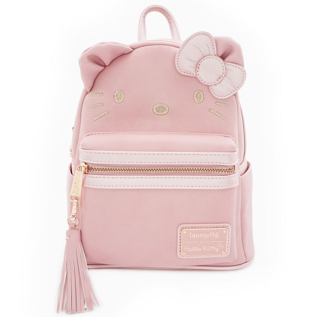 LOUNGEFLY Hello Kitty Metallic Pink Faux Leather Mini Backpack