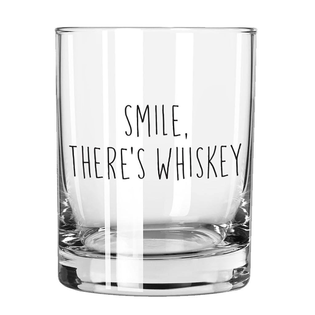 SIPS Rocks Glass - Smile, There's Whiskey