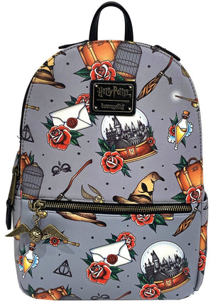 LOUNGEFLY X HARRY POTTER TATTOO AOP BACKPACK