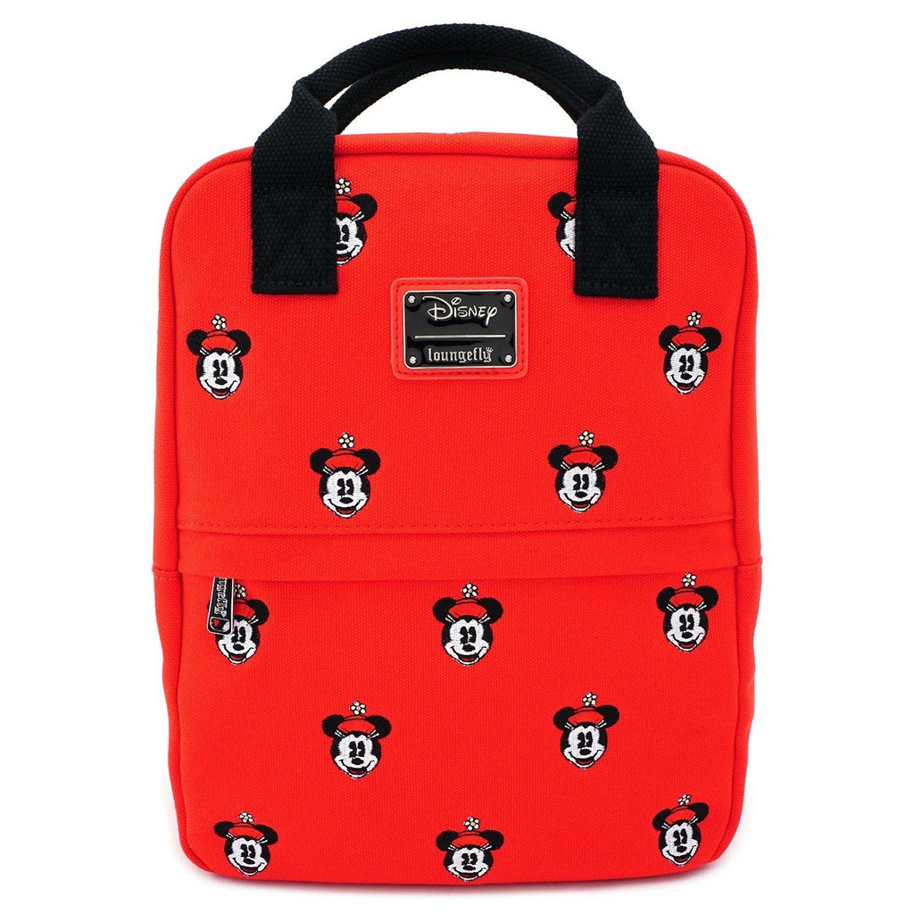 LOUNGEFLY x Positively Minnie Polka Dot Canvas Mini Backpack