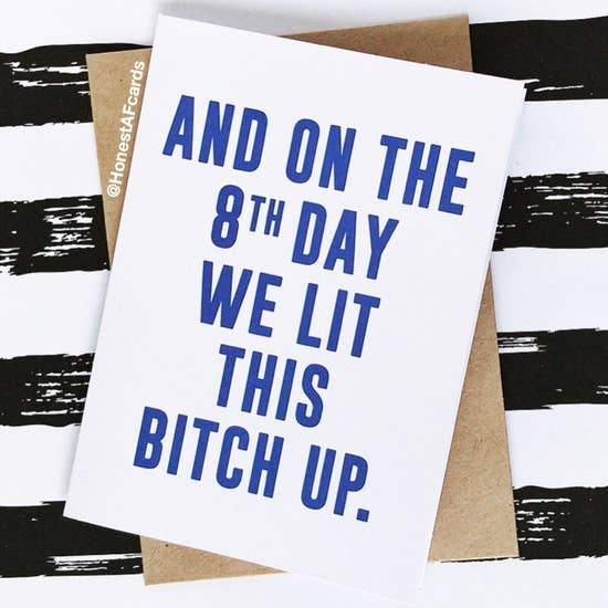 HONEST AF CARDS - And On The 8th Day