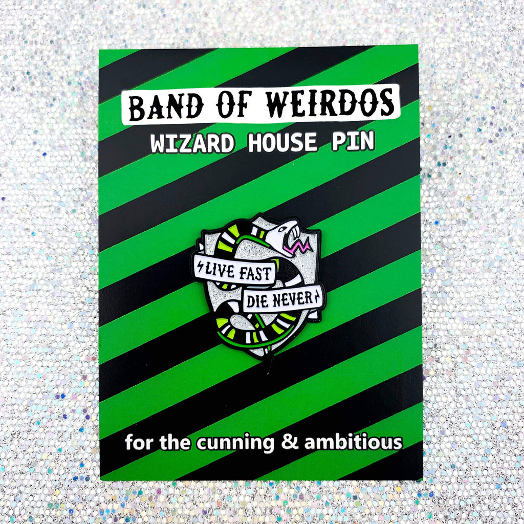 BAND OF WEIRDOS - Wizard House Enamel Pin - Snake