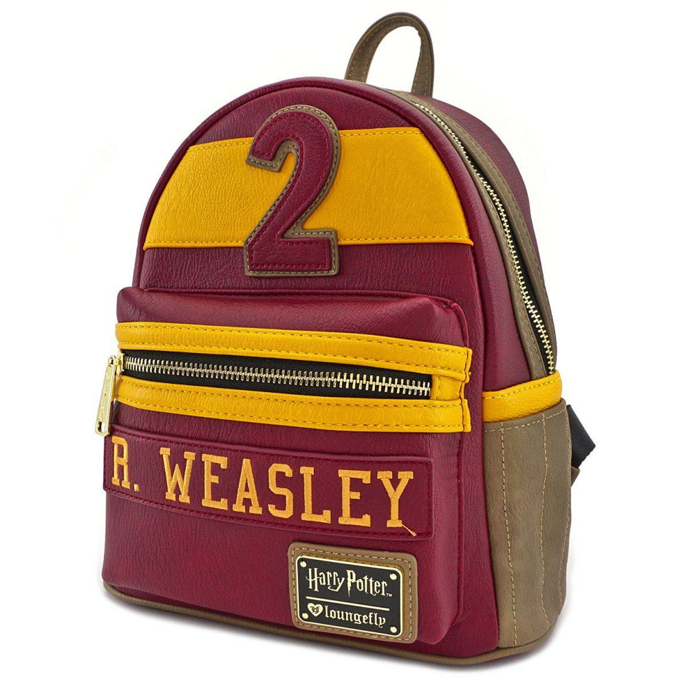 LOUNGEFLY Harry Potter Weasley/Gryffindor Faux Leather Mini Backpack