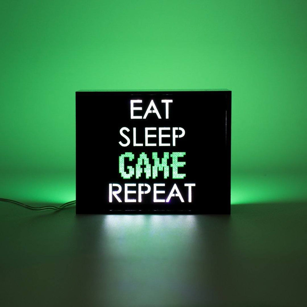 LOCOMOCEAN Mini Light Box - Eat, Sleep, Game, Repeat