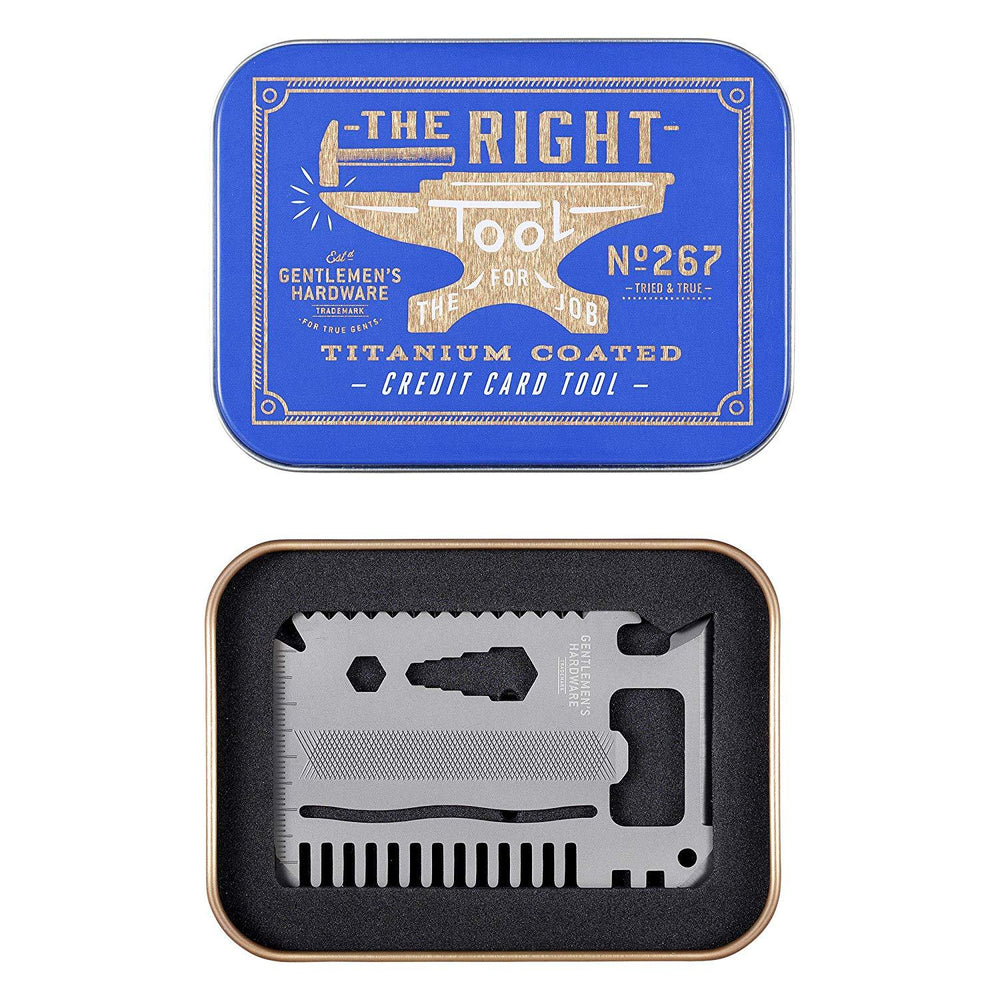 GENTLEMEN'S HARDWARE Credit Card Multi-Tool