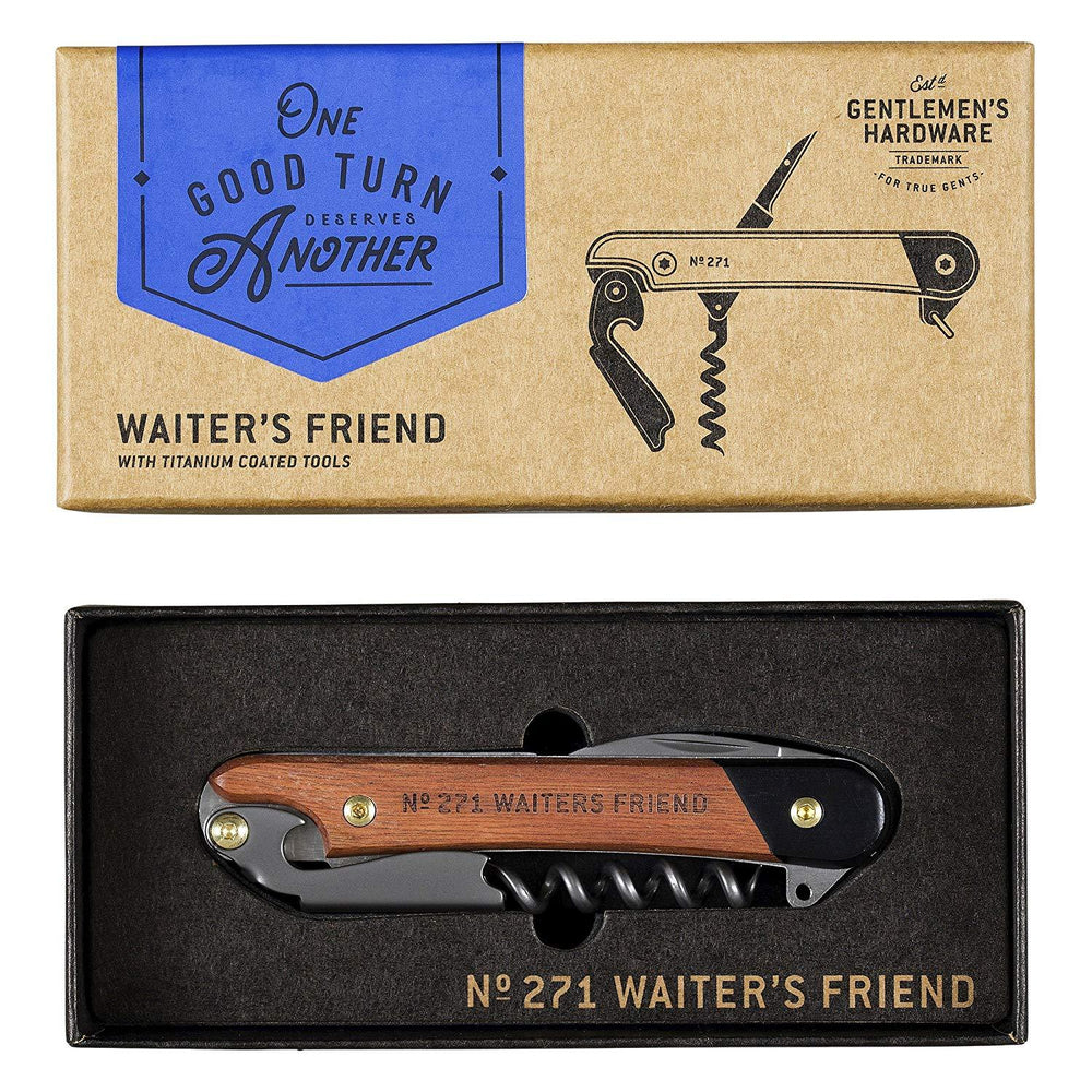 GENTLEMEN'S HARDWARE Waiter's Friend Bottle Opener