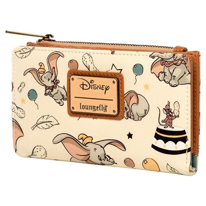 LOUNGEFLY Dumbo Vintage Zip Top Wallet