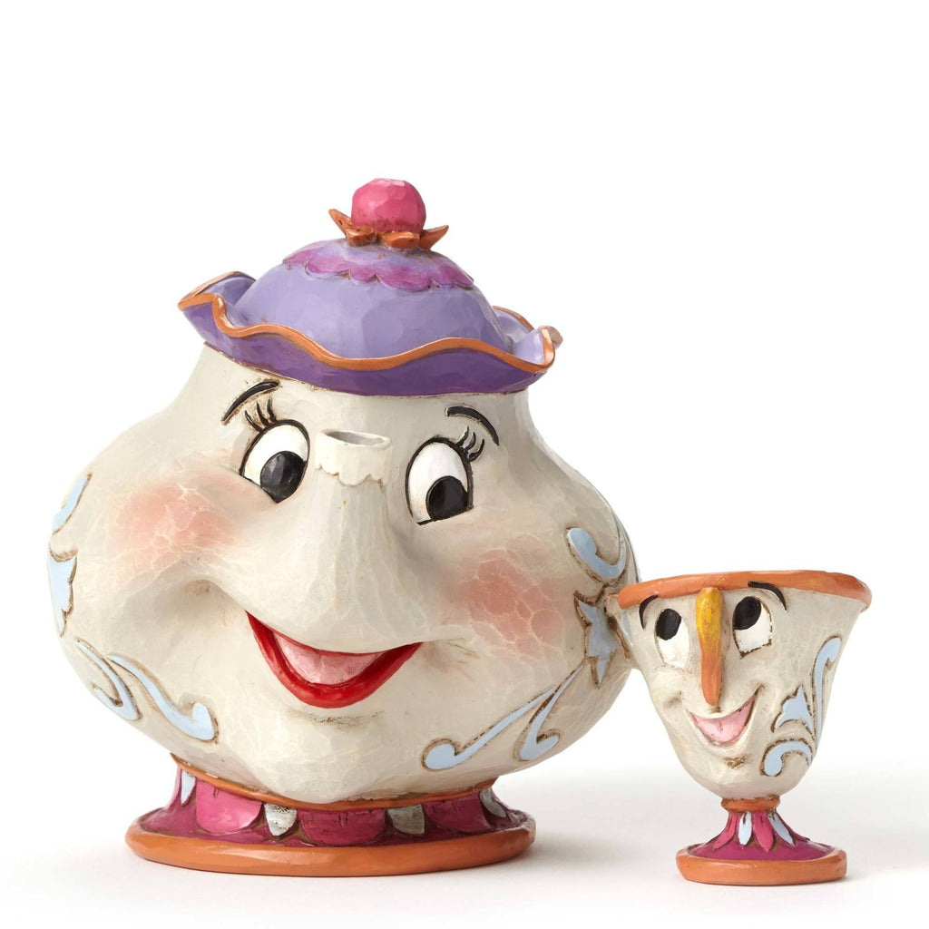 DISNEY TRADITIONS By Jim Shore - Mrs Potts & Chip Figurine