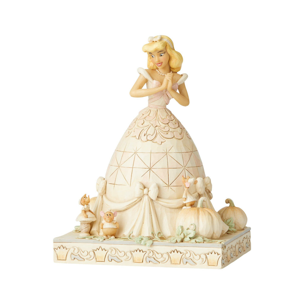 DISNEY TRADITIONS By Jim Shore - White Woodland Cinderella