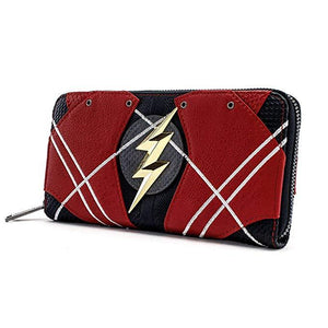 Loungefly x The Flash Faux Leather Zip Around Wallet