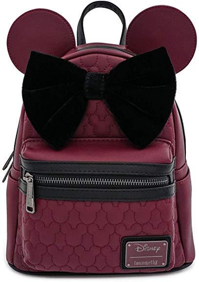 LOUNGEFLY x Disney Minnie Quilted Mini Backpack
