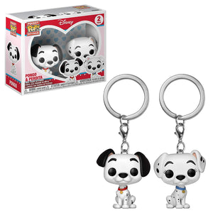 Pop! Keychain: 101 Dalmations - Pongo & Perdita 2 Pack